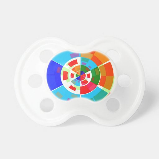 Retro Test Pattern Baby Pacifier
