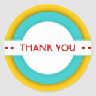 retro THANK YOU Classic Round Sticker