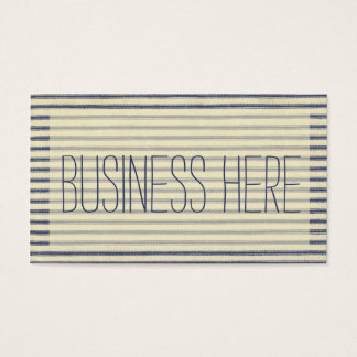 Retro Ticking Blue & White Striped Vintage French Business Card