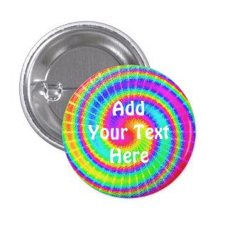 Retro Tie Dye Hippie Psychedelic 1 Inch Round Button