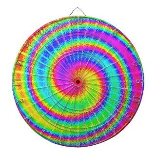 Retro Tie Dye Hippie Psychedelic Dart Board