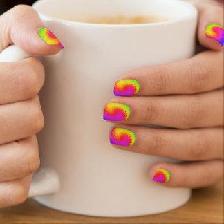 Retro Tie Dye Hippie Psychedelic Swirl 2 Minx Nail Art