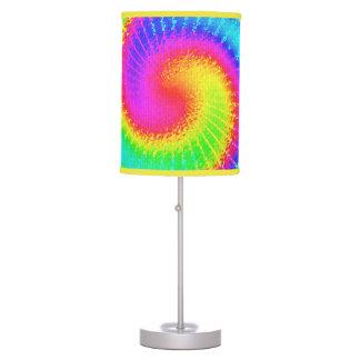 Retro Tie Dye Hippie Psychedelic Table Lamp