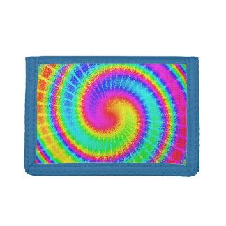 Retro Tie Dye Hippie Psychedelic Trifold Wallet