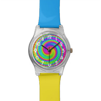 Retro Tie Dye Hippie Psychedelic Watch