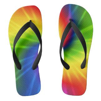 Retro Tie Dye.jpg Flip Flops