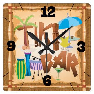 Retro Tiki Bar Clock