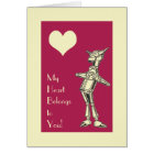 Retro Tin Man Love Card