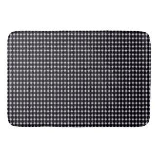 Retro-Tiny-Diamond's-Black-White-Rugs-SML Bath Mat