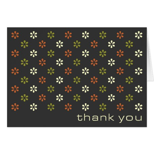 Retro tiny flower pattern personal thank you cards