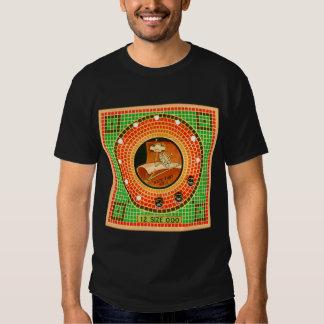 Rétro tissu vintage de kitsch cousant le paquet de t shirt