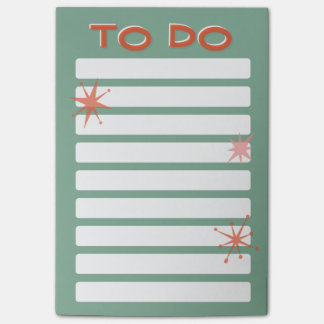 Retro to do list post-it notes