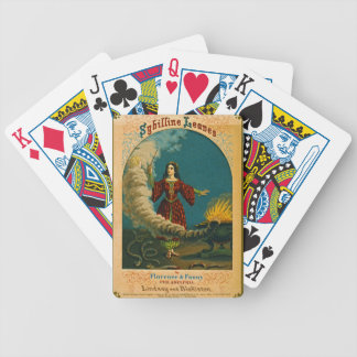 Retro Tobacco Label 1852 Bicycle Playing Cards