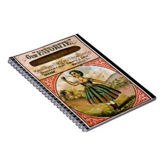 Retro Tobacco Label 1868 c Notebooks