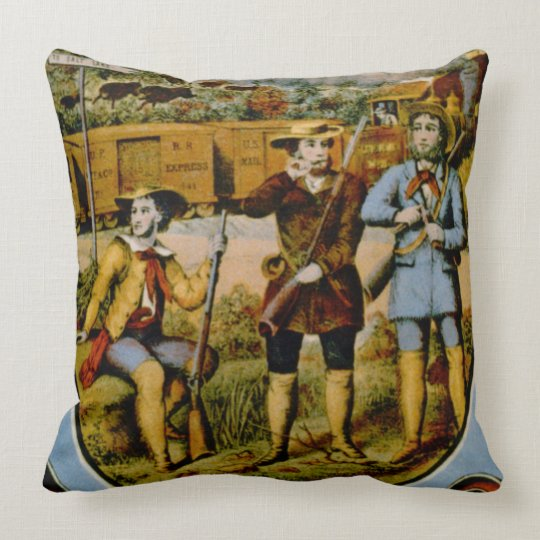 Retro Tobacco Label 1868 e Throw Pillow