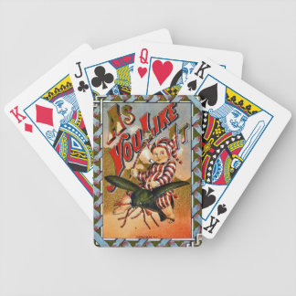 Retro Tobacco Label 1869 a Bicycle Playing Cards