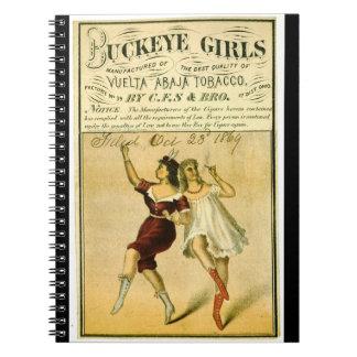 Retro Tobacco Label 1869 f Notebooks