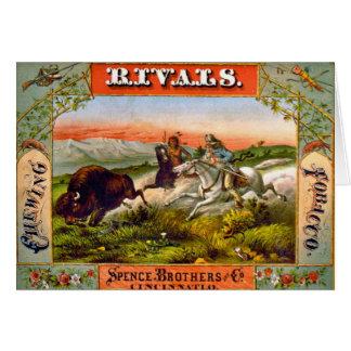 Retro Tobacco Label 1872 d Card