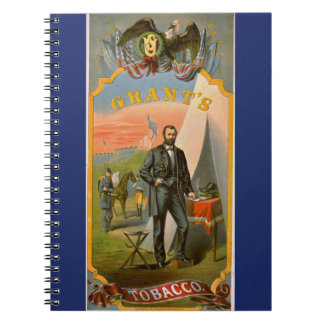 Retro Tobacco Label 1874 c Spiral Notebook