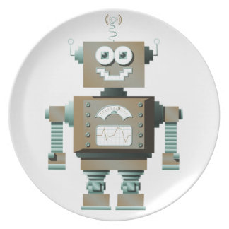 Retro Toy Robot Plate (lt)