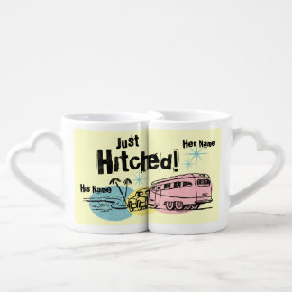 Retro Trailer Just Hitched Coffee Mug Set