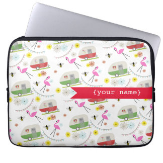 Retro Trailers Personalized Electronics Bag Laptop Sleeves