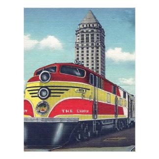 Retro Train The Champion Miami Railways Letterhead Design
