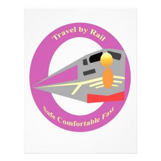 Retro Train Travel Personalized Letterhead