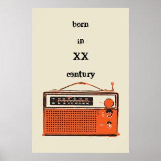retro transistor radio poster