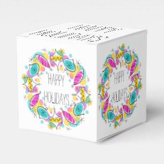 Retro Tree Baubles Circle Holidays classic Favor Box