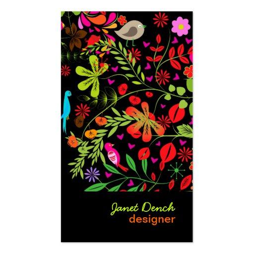 Rétro Tree/DIY couleur d'arrière - plan de PixDezi Cartes De Visite Professionnelles