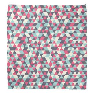 Retro triangle pattern bandana