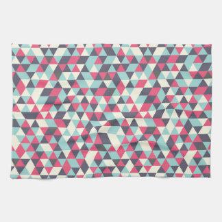 Retro triangle pattern kitchen towel