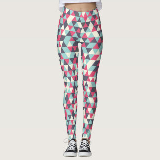 Retro triangle pattern leggings