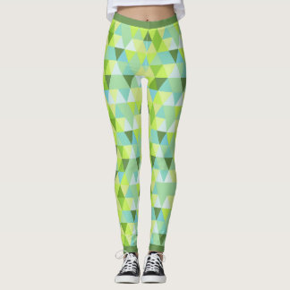 Retro Triangles Pattern Leggings