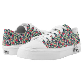 Retro Triangles Pattern Low-Top Sneakers