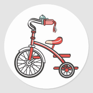 retro tricycle classic round sticker