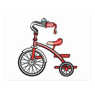 retro tricycle postcard