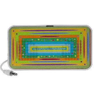 Retro trippy notebook speaker