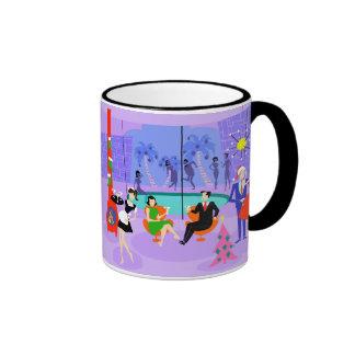 Retro Tropical Christmas Party Mug