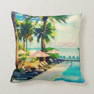 Retro tropical cushion