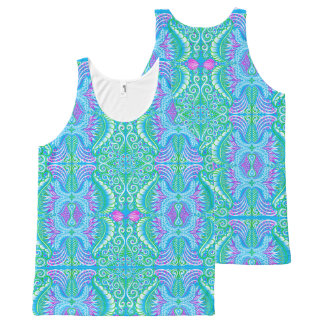 Retro tropical floral Pattern All-Over-Print Tank Top
