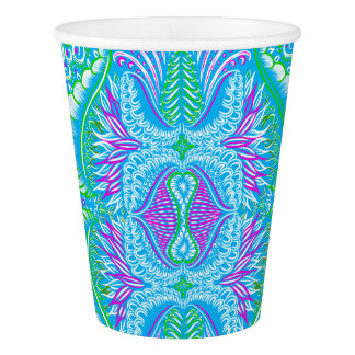 Retro tropical floral Pattern Paper Cup