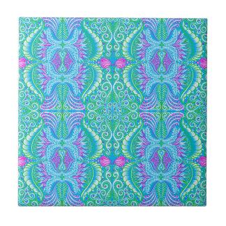Retro tropical floral Pattern Tile