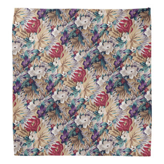 Retro Tropical Flower Pattern Bandana