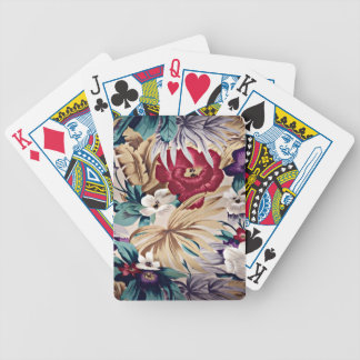 Retro Tropical Flower Pattern Bicycle Playing Cards