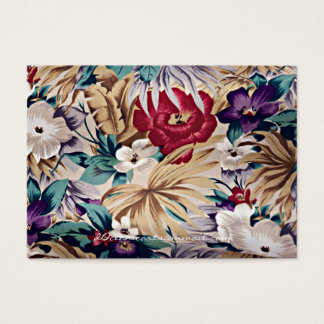 Retro Tropical Flower Pattern Business Card