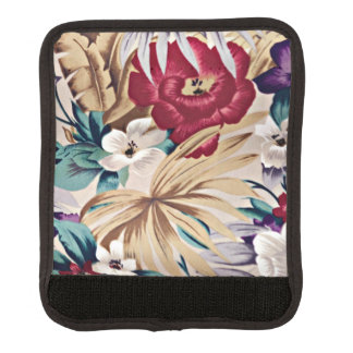 Retro Tropical Flower Pattern Luggage Handle Wrap