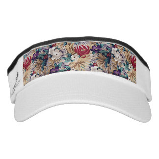 Retro Tropical Flower Pattern Visor