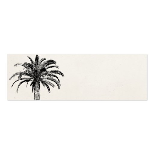 Retro Tropical Island Palm Tree in Black and White Business Card Template